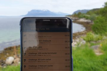 The app on a phone